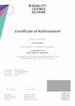 The Quality Licence Scheme Sample Certificate