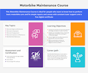 Motorbike Maintenance Course Infographic