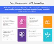 Fleet Management course Infographic