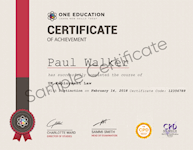 One Education Sample Certificate