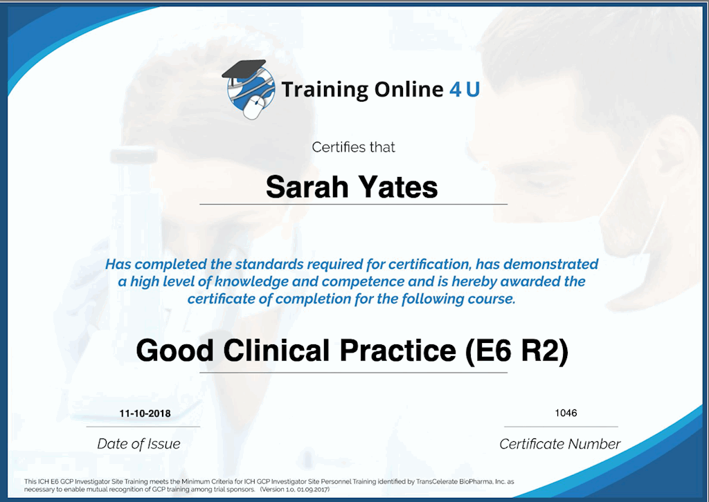 Online Good Clinical Practice Course Reed Co Uk