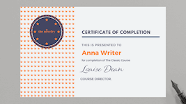 Course Completion Certificate.