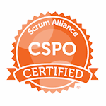 Certified Scrum Product Owner ® (CSPO) certification badge
