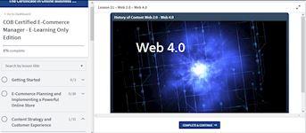 E-Learning System Screenshot