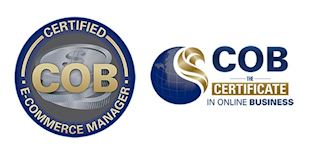 COB Certified E-Commerce Manager Certification Logos