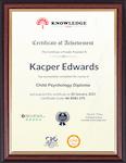 Sample Certificate - Copywriting - Beginner to Immediate Level
