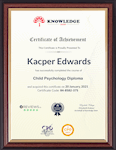 Sample Certificate – Primary Teacher - SEN and Child Care