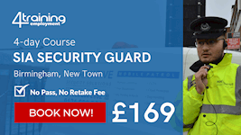 T4E SIA Security Guard Course Cover