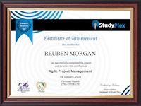 Sample Certificate of Achievement from Study Plex