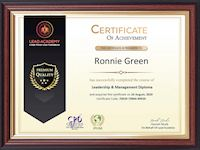 Sample Certificate of Achievement - Lead Academy