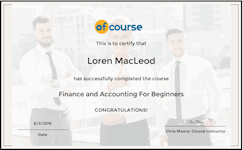 Accounting and Finance Cert