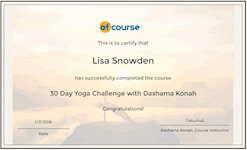 30 Day Yoga cert