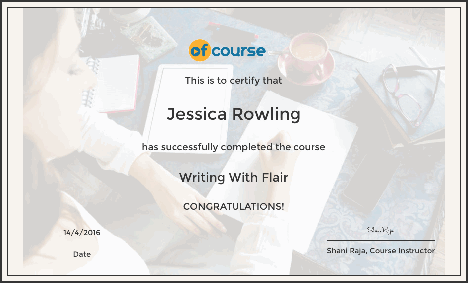 write with flair cert