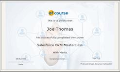 CRM salesforce cert