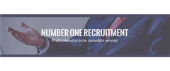 Jobs from Number One Recruitment